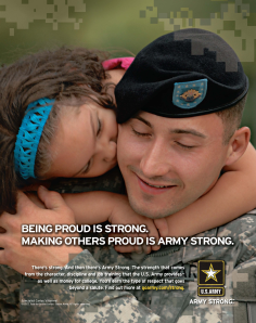 "Print ad for ""Army Strong"""