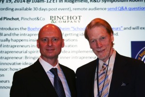 Building the School for Intrapreneurs together: Stephan Klaschka (left) and Gifford Pinchot III
