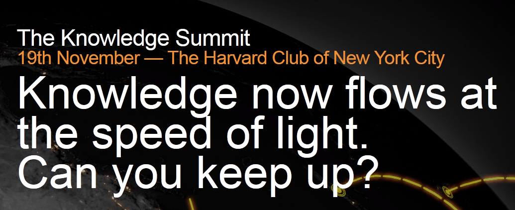 Meet me at AlphaSights' Knowledge Summit in NYC, Nov. 19,2014
