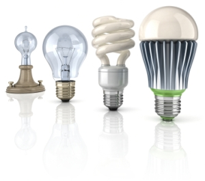 Lightbulb evolution (source: www.thewirelessbanana.com)