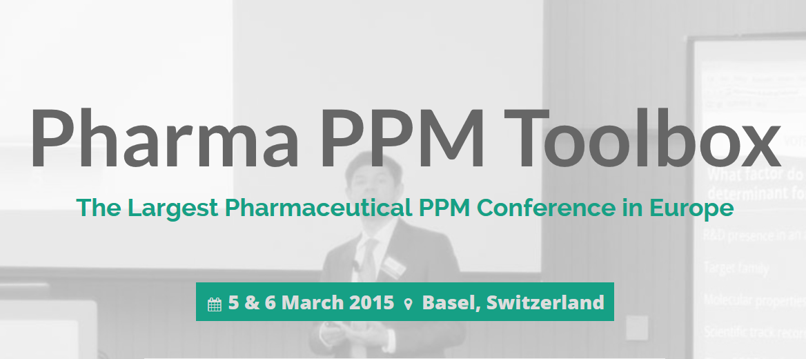 Join me at the 5th Annual Pharma PPM Toolbox in Basel/Switzerland, Mar. 6, 2015