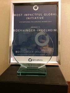 Most impactful global initiative award