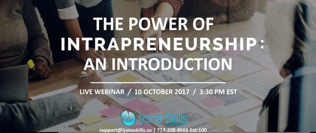 Intrapreneurship: Designing sustainable innovation ecosystems! – New Executive Webinar Series in Oct/Nov 2017