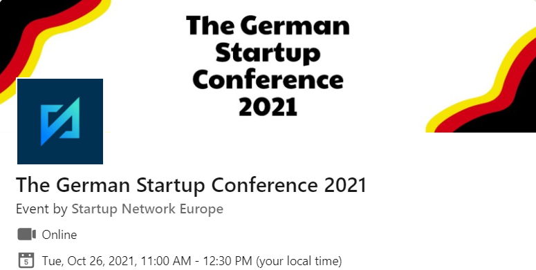 Join me at The German Startup Conference2021